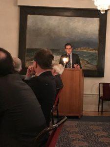 Middagsbjudning med Frankrikes ambassadör