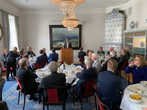 Lunch presentation with the French Ambassador to Sweden David Cvach
